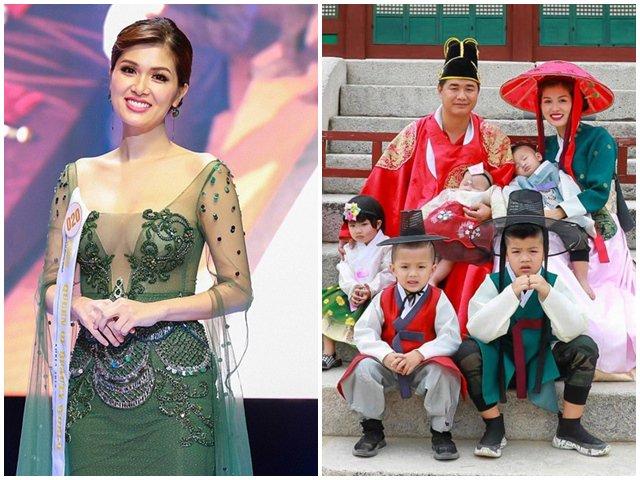 Có bầu con thứ 6 ở tuổi 33, Oanh Yến xứng đáng là Hoa hậu đẻ nhiều con nhất showbiz