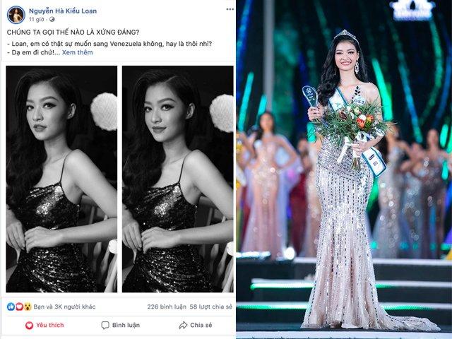 Bị chê không xứng đáng dù có trở thành Miss Grand International, Á hậu Kiều Loan đáp trả mạnh mẽ