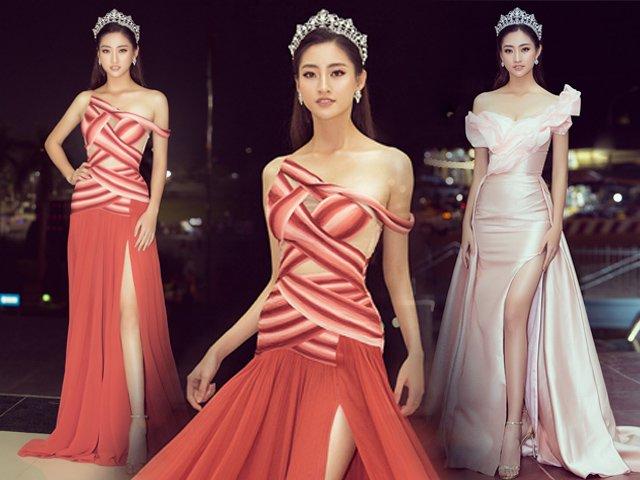 Diện dạ hội trễ vai, Hoa hậu Lương Thuỳ Linh khoe dáng nuột nà lần đầu làm giám khảo