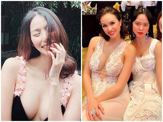 Hai bà bầu hot nhất showbiz Việt: Bụng 8 tháng mới lùm lùm, vòng 1 lại nảy nở ngộp thở