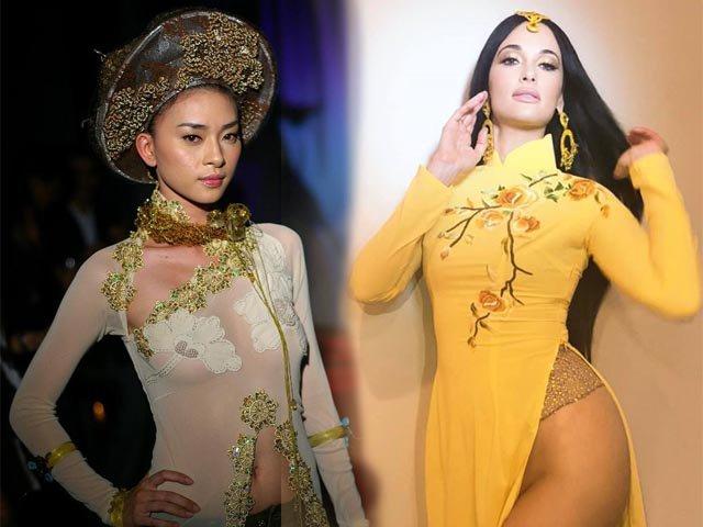 Chỉ trích sao Mỹ mặc áo dài không quần, Ngô Thanh Vân đã từng mặc áo dài không nội y