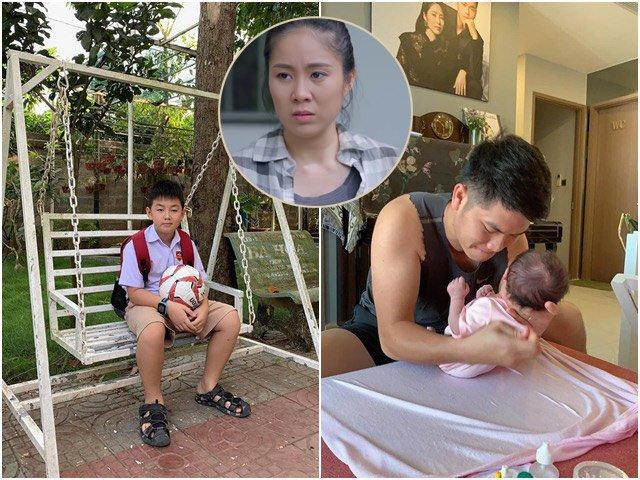 Sau khi sinh con gái, Lê Phương làm con bò sữa, chồng trẻ một nách hai con