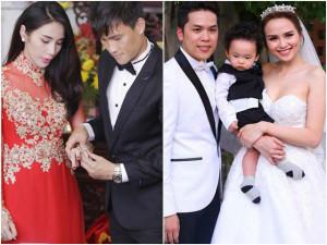 Trước Lưu Đê Ly, nhiều cặp sao Việt sinh con xong mới cưới, sang trọng chẳng kém ai