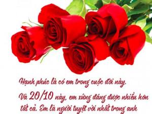Lời chúc 20/10 cho người yêu, bạn gái hay nhất và ý nghĩa nhất
