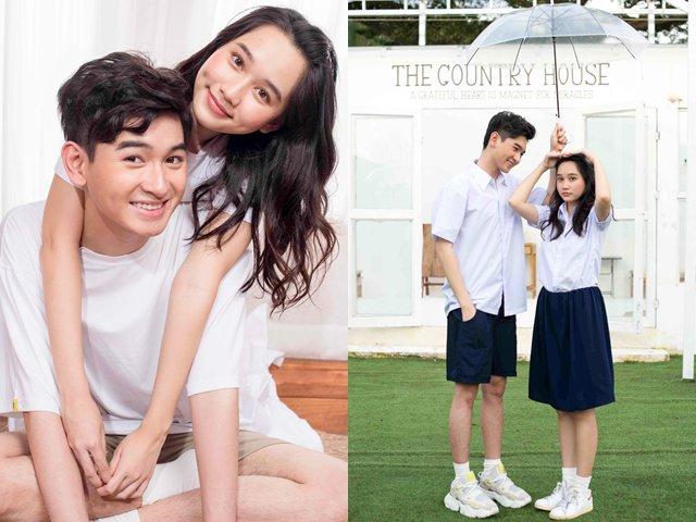 Minh Khải - Trúc Anh khoe bộ ảnh kẹo ngọt trong phim điện ảnh đầu tay Ngốc ơi tuổi 17