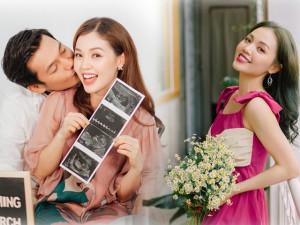 Linh Phi mang thai con đầu lòng, Quang Tuấn khổ sở vì nghén thay vợ