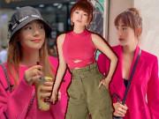 """Thời trang - Sau Ngọc Trinh đến lượt Minh Hằng mê quần áo theo phong cách """"cẩm hường"""""""