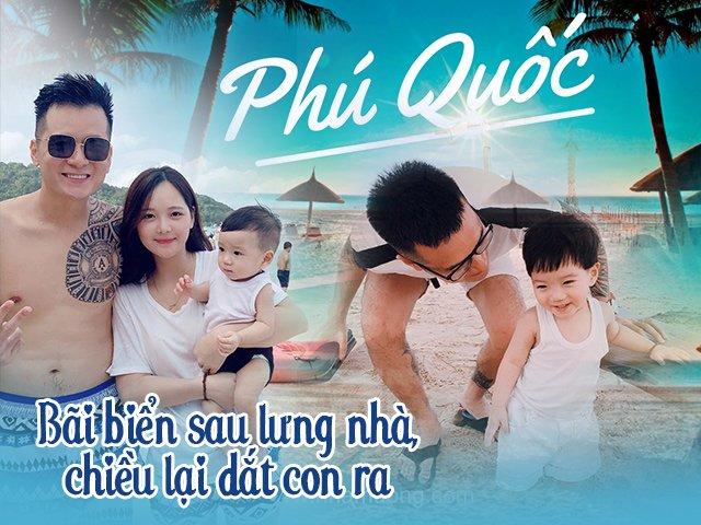 Hà Nội ô nhiễm, hotgirl dân tộc cùng chồng đại gia đưa con ra Phú Quốc sống 1 năm nay