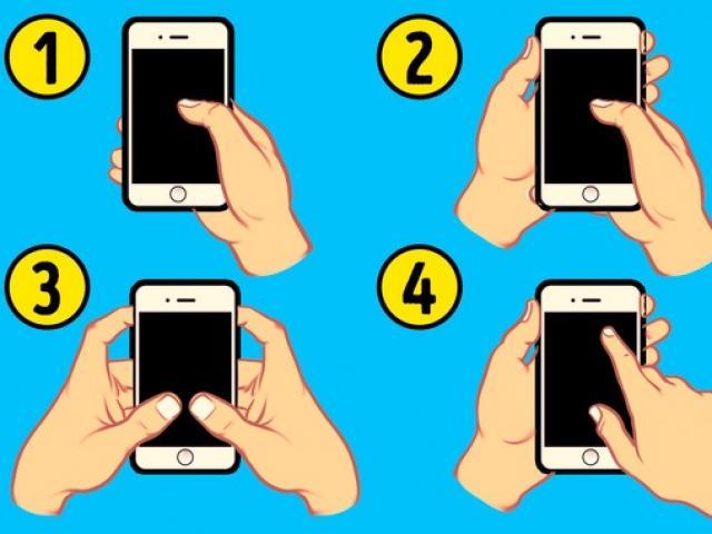 Nhìn cách cầm điện thoại đọc vị ngay tính cách của người đối diện