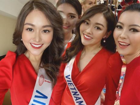 Tự trang điểm và làm tóc tại Miss International, Tường San vẫn đẹp xuất sắc