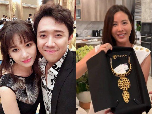 Hari Won dỗi hờn khi Trấn Thành tặng Hoa hậu Thu Hoài dây chuyền 73 triệu đồng