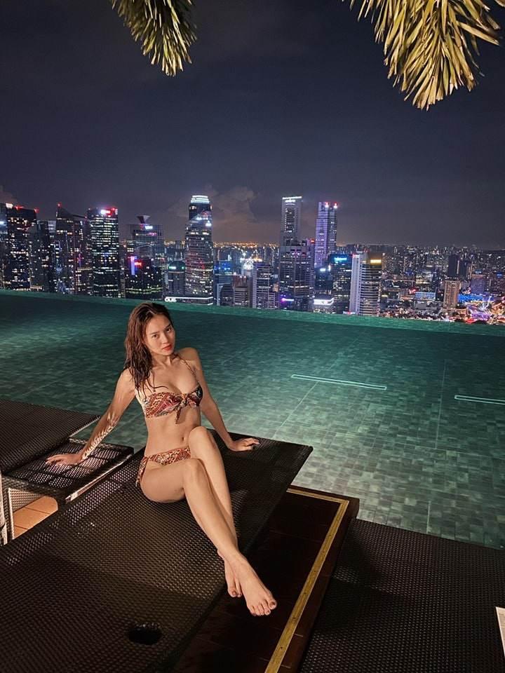 Sở hữu dáng mình dây, ai ngờ Lan Ngọc khi diện bikini lại vô cùng quyến rũ và nóng bỏng