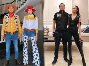 Mỗi mùa Halloween tới, vợ chồng Tăng Thanh Hà lại biến hoá thêm 1 kiểu