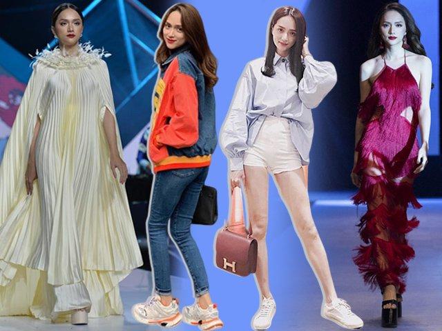 Là nữ hoàng cà kheo trên thảm đỏ nhưng Hương Giang ngoài đời lại cực chuộng giày sneaker