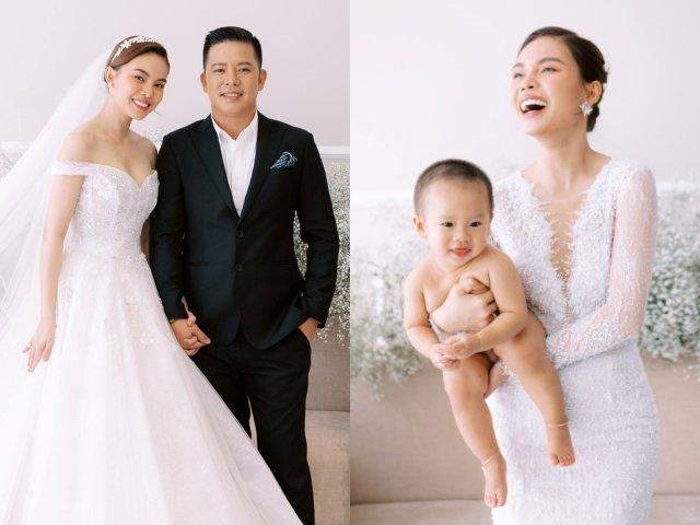 Giang Hồng Ngọc tung ảnh cưới, diện mạo con trai giấu kín suốt 1 năm lấn át cả bố mẹ