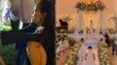 Minh Hằng, Phạm Quỳnh Anh bị xô xuống hồ bơi trong đám cưới Đông Nhi