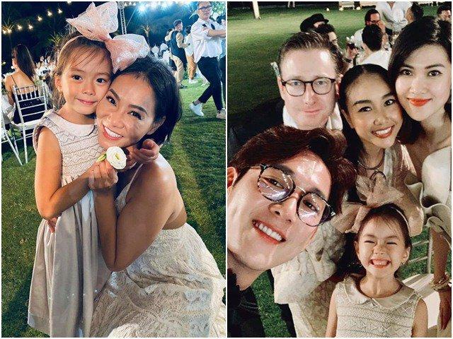 Bé gái xinh được sao Việt xin chụp ảnh ké trong đám cưới Đông Nhi, thân thế cũng không vừa