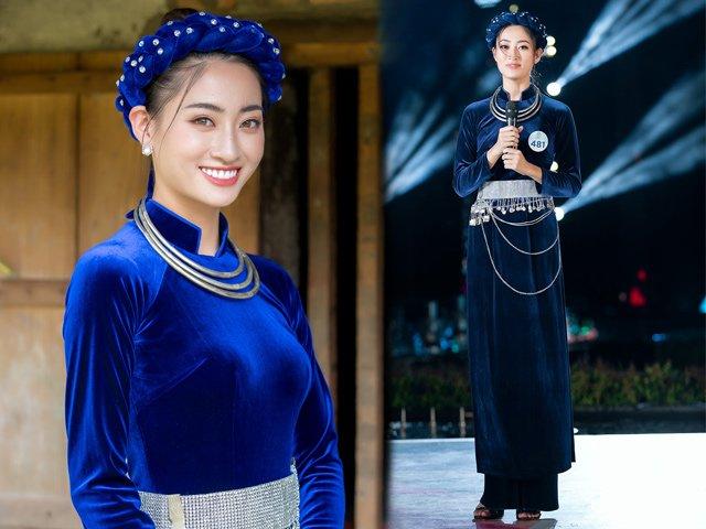 Diện lại áo dài cũ, Hoa hậu Lương Thuỳ Linh vẫn đẹp ngất ngây