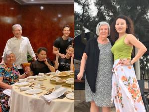 Nức lòng khoảnh khắc mẹ Hồ Ngọc Hà nắm chặt tay mẹ Kim Lý trong bức ảnh gia đình