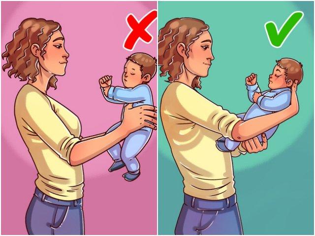 6 sai lầm khi bế trẻ sơ sinh nhiều mẹ mắc phải có thể gây nguy hại sức khoẻ bé
