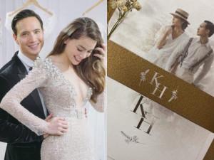 Xuất hiện thiệp cưới được cho là của Hồ Ngọc Hà và Kim Lý
