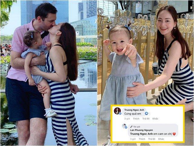 Sao Việt 24h: Vợ chồng Lan Phương hôn nhau say đắm bên con gái dưới ống kính mẹ đẻ