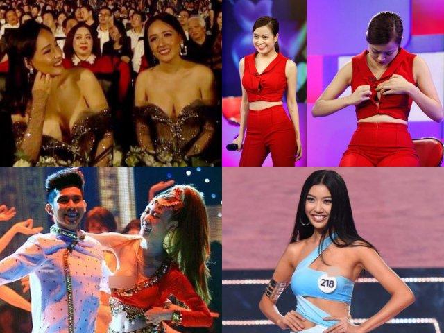 Trước thí sinh Miss Universe, Ngân Khánh, Mai Phương Thúy cũng từng hớ hênh trên sóng truyền hình