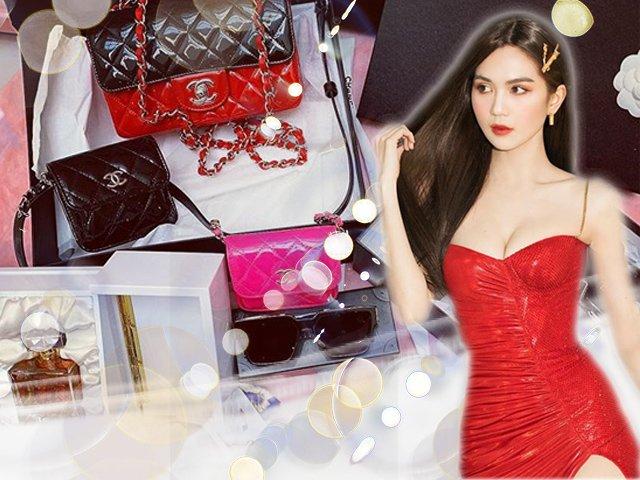 Ngọc Trinh bổ sung vào bộ sưu tập loạt túi hiệu đắt đỏ nhân dịp Giáng Sinh