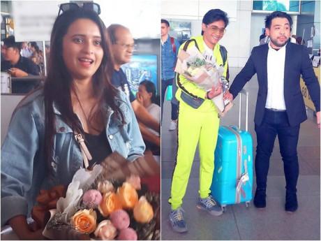 Cặp đôi đắt giá nhất Bollywood Shivani Surve và Kartikey Malviya đổ bộ sân bay Việt Nam