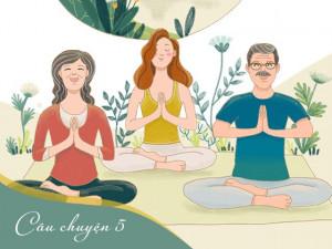 Ngày ấy ba mẹ cùng con vận động, nay con cùng ba mẹ tập yoga cho cơ thể dẻo dai