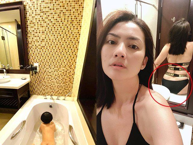 Ngọc Lan khoe cảnh tắm bồn nhưng dân tình lại chú ý hình phản chiếu trong gương