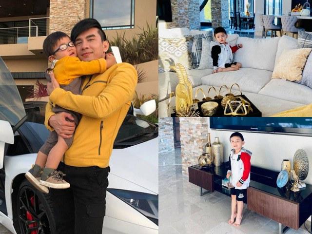 Vợ Đan Trường khoe ảnh quý tử Thiên Từ, lộ ra cơ ngơi siêu hoành tráng tại Mỹ