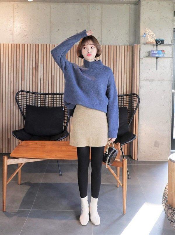 Áo len trơn màu dù đơn giản đến mấy, qua tay các mỹ nhân Hàn là hóa sành điệu - 16