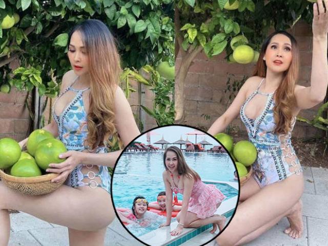 Một thời vạn người mê, Gái nhảy Minh Thư U50 ở Mỹ vất vả nuôi con, mặc bikini hái bưởi