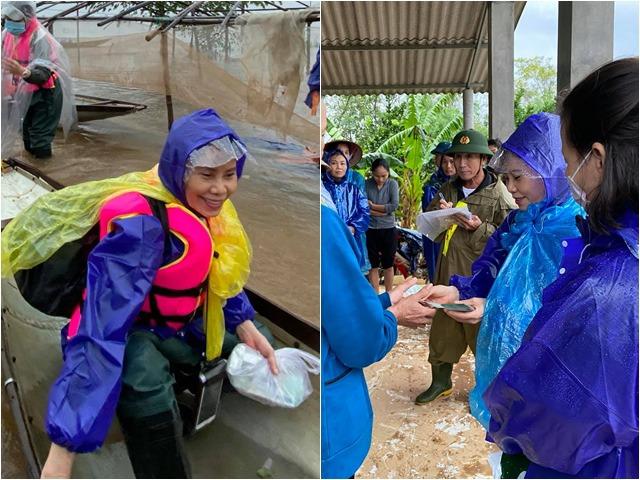 Sao Việt 24h: Mẹ Hồ Ngọc Hà chỉ biết cười khi từ thiện miền Trung, nghẹn lòng không nói được
