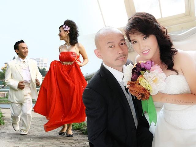 Diễn viên cao 1m49 đạp xe tán hotgirl phố cổ, ngày cưới đi giày cao gót, phải bắc ghế hôn
