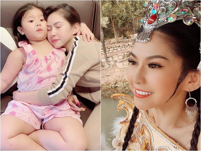 Con gái nuôi Kim Tử Long suýt mất con khi diễn, lăn từ trên bàn cao xuống đất