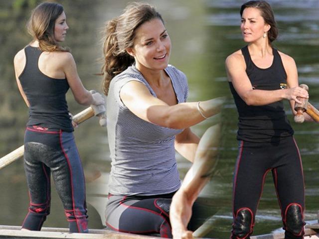 Bức ảnh công nương Kate chèo thuyền 13 năm trước dậy sóng CĐM vì sắc vóc đẹp như minh tinh