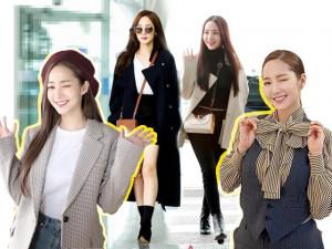 Nhan sắc lên xuống thất thường nhưng gout thời trang công sở 30 của Park Min Young đẹp miễn chê