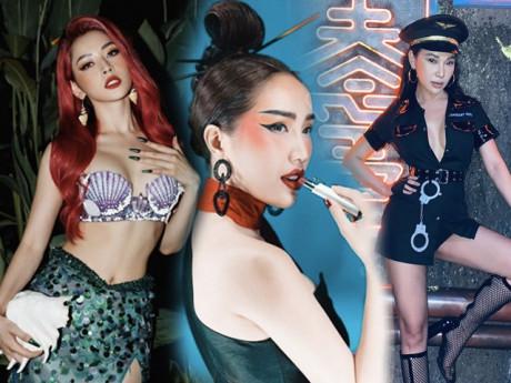 Sao Việt hoá trang Halloween: váy công chúa, đầm cắt bạo được tận dụng khoe triệt để body bốc lửa