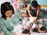 8X mang tam thai thế giới cũng hiếm thấy, danh tính người chồng   không phải dạng vừa