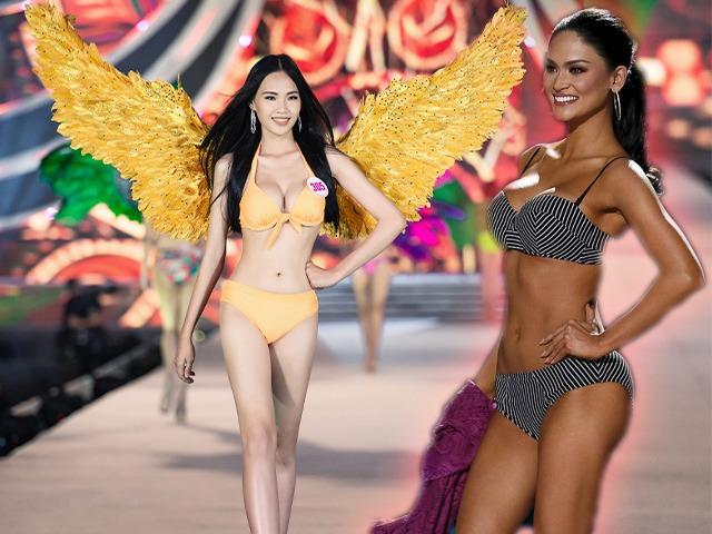 Thí sinh ngực khủng nhất Hoa hậu Việt Nam chỉ catwalk nhẹ nhàng mà đường cong uốn lượn