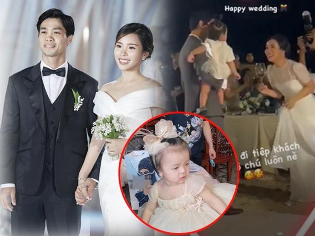 Công Phượng Viên Minh âu yếm cưng chiều một bé gái giấu mặt trong đám cưới, danh tính cực khủng