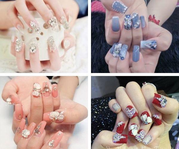 Để khoảnh khắc trao nhẫn ngày cưới thêm hoàn hảo, nàng nên sắm ngay 6 mẫu nail cô dâu này