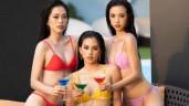 """Top 3 Hoa hậu Việt Nam 2018 tung bộ ảnh bikini gợi cảm cổ vũ cho """"đàn em"""""""