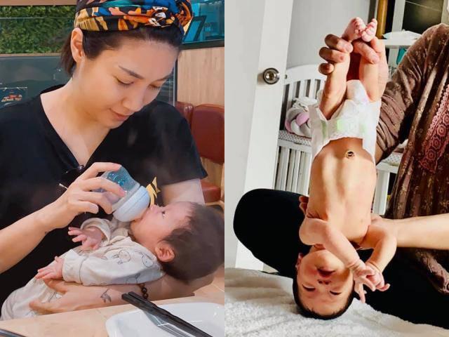 Con gái Pha Lê 5 ngày tuổi đã bị cầm chân dốc ngược