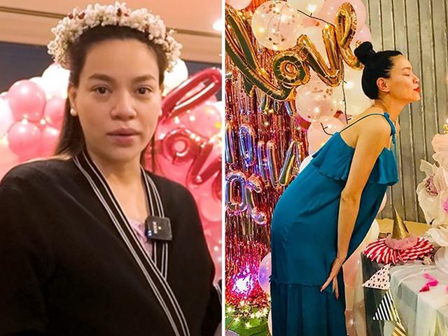 Vóc dáng thật của Hà Hồ sau sinh 3 tuần: Giấu bụng bà đẻ trong chiếc váy rộng thùng thình
