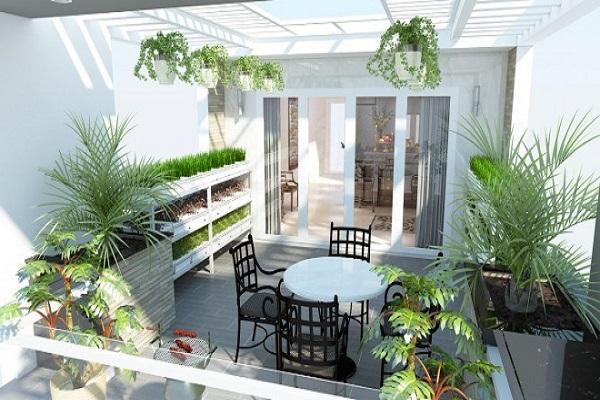 Những mẫu thiết kế sân thượng đẹp cho nhà ống hoặc nhà phố hiện đại - 11