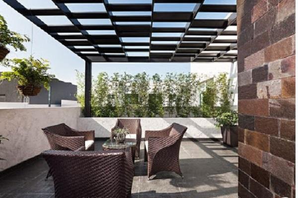 Những mẫu thiết kế sân thượng đẹp cho nhà ống hoặc nhà phố hiện đại - 4