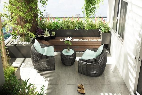 Những mẫu thiết kế sân thượng đẹp cho nhà ống hoặc nhà phố hiện đại - 8